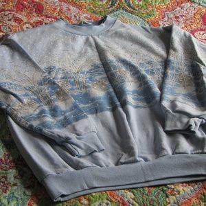 Vintage Winter Bunnies Crewneck Sweatshirt
